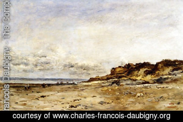 Charles-Francois Daubigny - Low Tide At Villerville