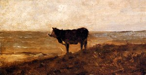 Charles-Francois Daubigny - The Lone Cow