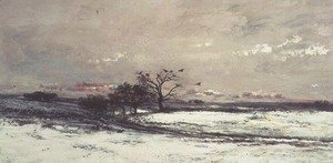 Charles-Francois Daubigny - The Snow, 1873
