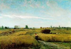 Charles-Francois Daubigny - The Harvest, 1851