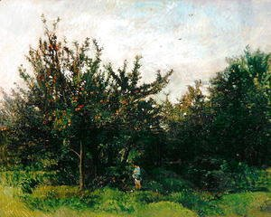 Charles-Francois Daubigny - An Apple Orchard