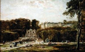 Charles-Francois Daubigny - View of the Chateau de Saint-Cloud