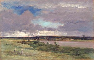 Charles-Francois Daubigny - The Coming Storm: Early Spring, 1874