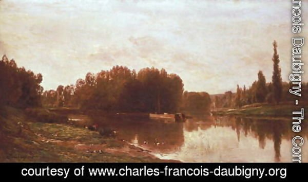 Charles-Francois Daubigny - The Confluence of the River Seine and the River Oise