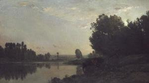 Charles-Francois Daubigny - The Banks of the Oise, Morning, 1866