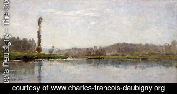 Charles-Francois Daubigny - Morning on the Oise, Auvers