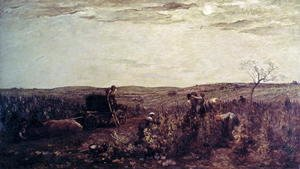 Charles-Francois Daubigny - The Wine Harvest in Burgundy, 1863