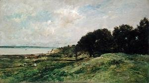 Charles-Francois Daubigny - The Coast of Villerville, 1875
