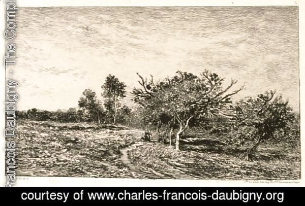 Charles-Francois Daubigny - Apple Trees at Auvers (Pommiers a Auvers), 1877
