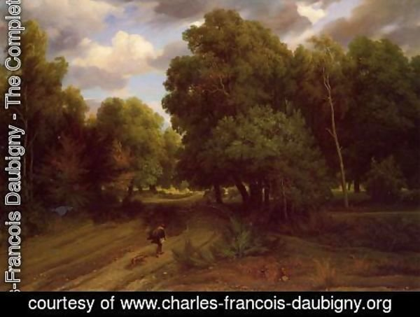 Charles-Francois Daubigny - The Crossroads at the Eagle's Nest, Forest of Fontainebleau