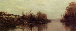 Charles-Francois Daubigny - Ferry at Glouton