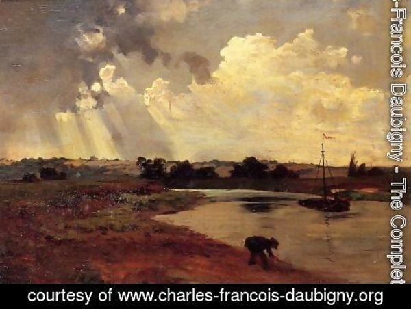 Charles-Francois Daubigny - The Banks of the River