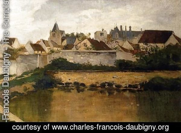 Charles-Francois Daubigny - The Village, Auvers-sur-Oise
