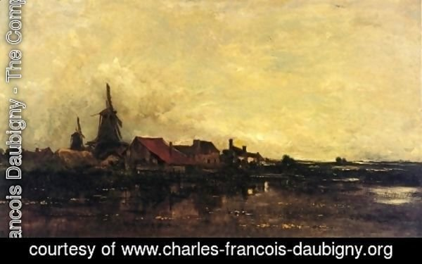 Charles-Francois Daubigny - The River Meuse at Dordrecht