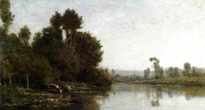 Charles-Francois Daubigny - The Banks of the River I
