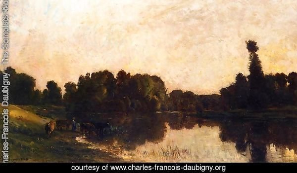 Daybreak, the Oise, Ile de Vaux