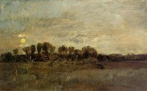 Charles-Francois Daubigny - The Orchard at Sunset