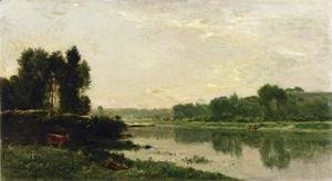 Charles-Francois Daubigny - The Banks of the River II
