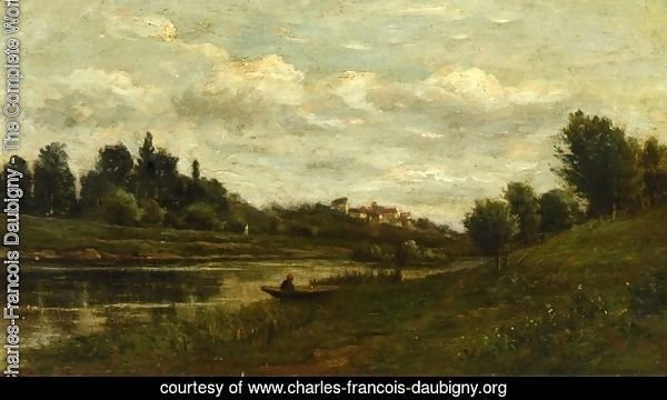 Fisherman on the Banks of the River