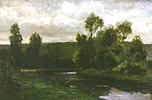 Charles-Francois Daubigny - On the Oise