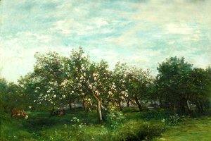 Charles-Francois Daubigny - Apple Blossoms