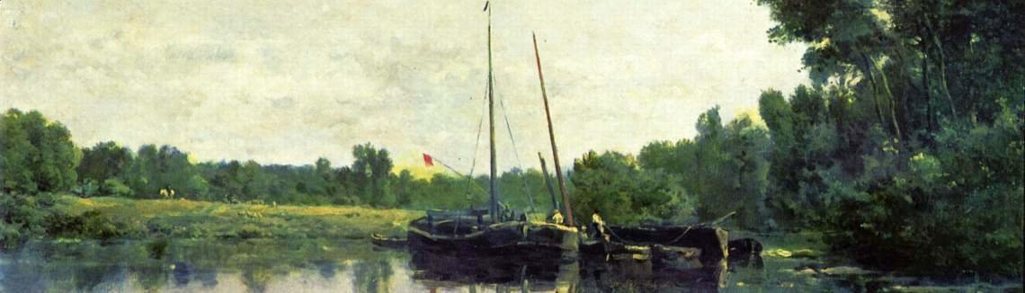 Charles-Francois Daubigny - Boats on the Oise