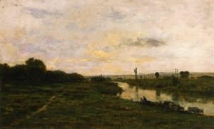 Charles-Francois Daubigny - Cows on the Banks of the Seine, at Conflans