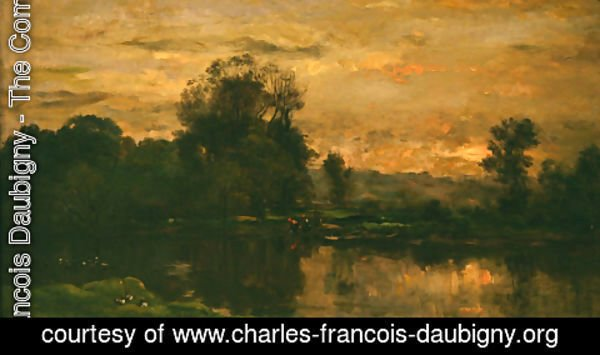 Charles-Francois Daubigny - Landscape with Ducks
