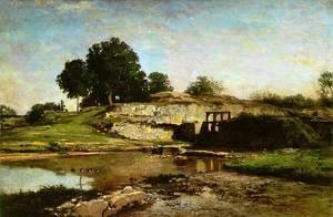 Charles-Francois Daubigny - The Flood-Gate at Optevoz