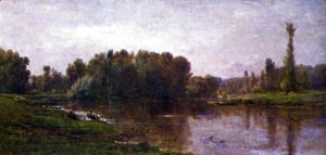 Charles-Francois Daubigny - The banks of the Oise 2