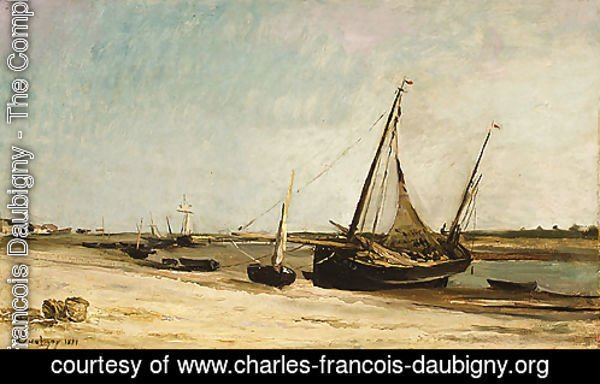 Boats on the Seacoast at aples 1871