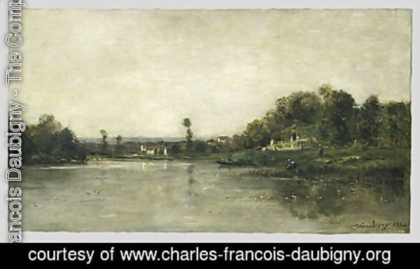 Charles-Francois Daubigny - On the Banks of the Oise 1864