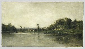 On the Banks of the Oise 1864