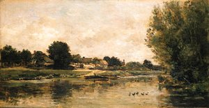 Charles-Francois Daubigny - View of a river