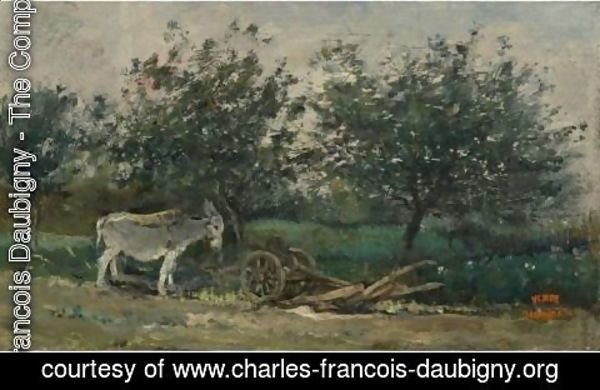 Charles-Francois Daubigny - A Donkey Near His Plough