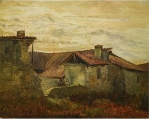 Charles-Francois Daubigny - Old Farmhouses