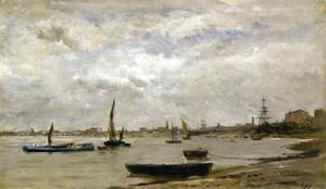 Charles-Francois Daubigny - The Mouth of the Thames