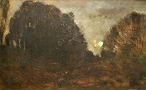 Charles-Francois Daubigny - Rising Moon in Barbizon