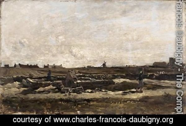 Charles-Francois Daubigny - Kerity view Fountain