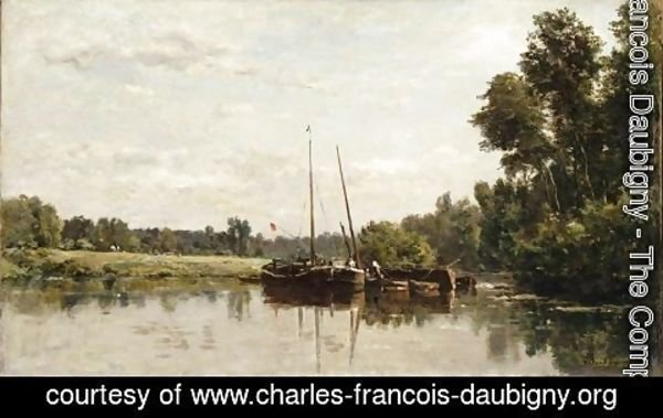 Charles-Francois Daubigny - The barges