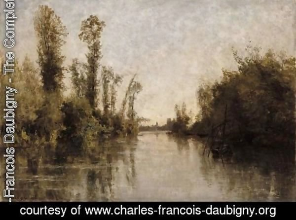 Charles-Francois Daubigny - The banks of Seine