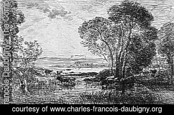 Charles-Francois Daubigny - The clump of alders