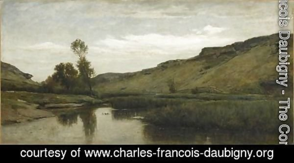 Charles-Francois Daubigny - The big valley of the Optevoz