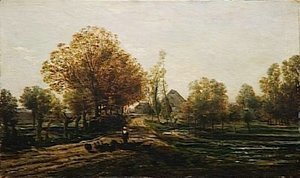 Charles-Francois Daubigny - The turkey keeper