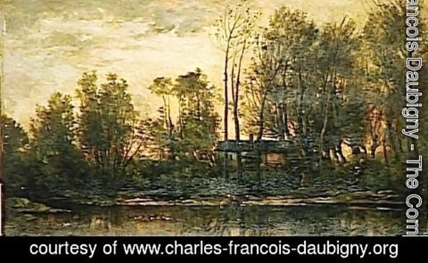Charles-Francois Daubigny - Sunset, Lower Meudon
