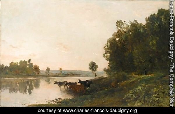 Sunrise, banks of the Oise