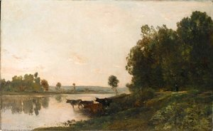 Charles-Francois Daubigny - Sunrise, banks of the Oise