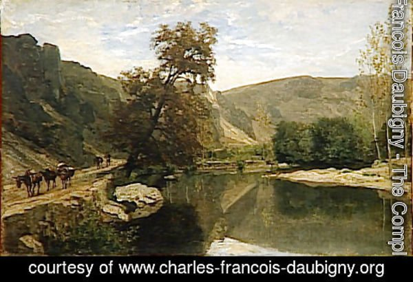Charles-Francois Daubigny - The boards of Cousin near Avallon