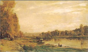 Charles-Francois Daubigny - The banks of the Oise 3