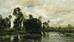 Charles-Francois Daubigny - Edge of the Pond